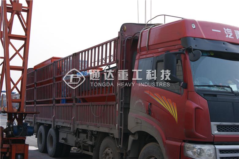 粉狀有機肥(fei)設備生產線發往山(shan)東